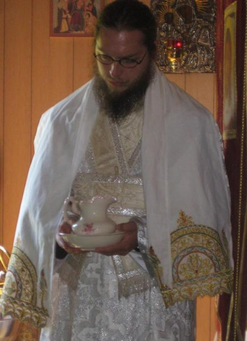 Father John when he was a sub-deacon.