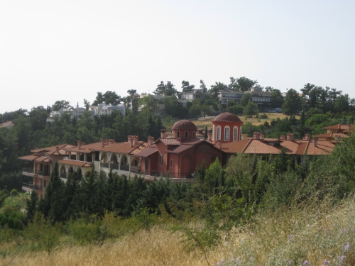 This is the Holy Monastery of the Nativity of the Theotokos (Panorama). Elder Symeon was their spiritual father.