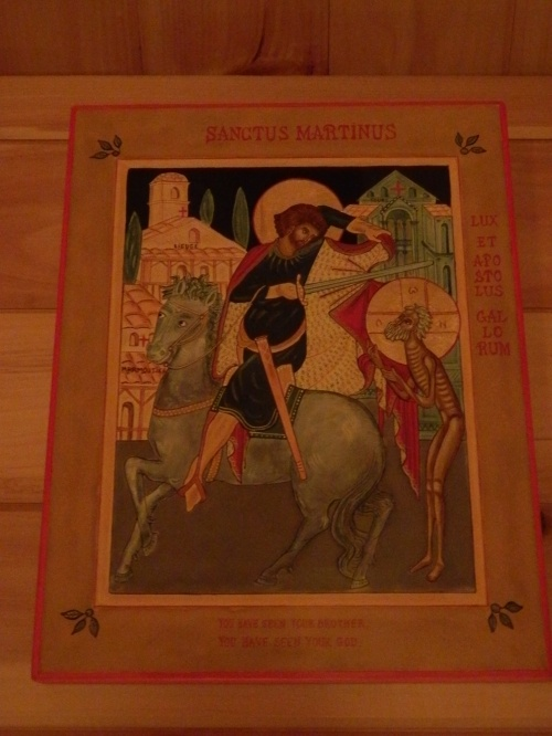 This icon of St. Martin of Tours is housed in the catholicon at the Holy Hermitage of the Annunciation in New Germany, Nova Scotia.