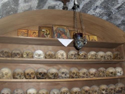 ossuary in meteora