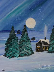 Image retrieved from http://fineartamerica.com/featured/winter-cabin-in-the-woods-beverly-livingstone.html